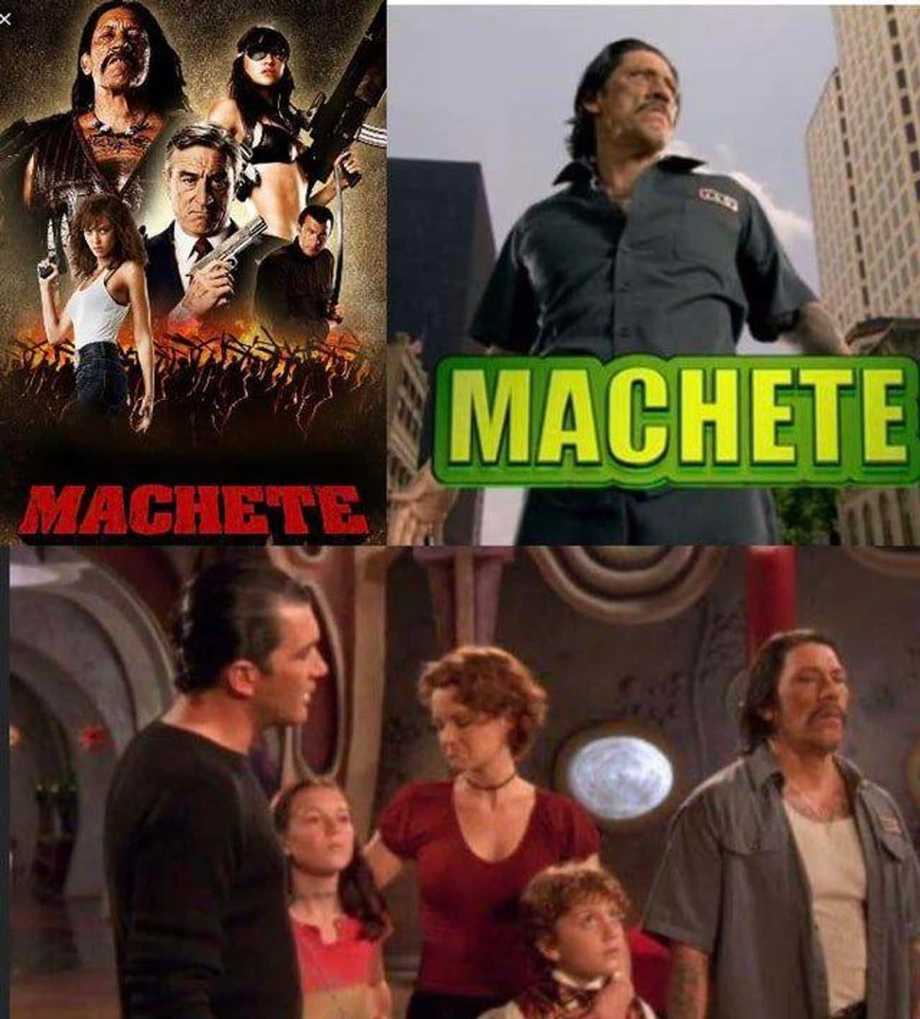 Machete is listed (or ranked) 4 on the list 20 Pretty Cool Movie Details We Found This Week That Made Us Say, 'That's Awesome'