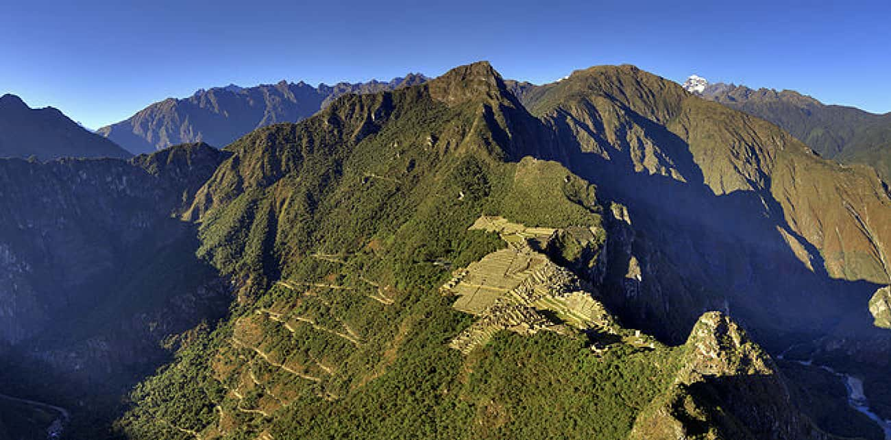 Machu Picchu is listed (or ranked) 2 on the list Famous Places Seen From a New Perspective
