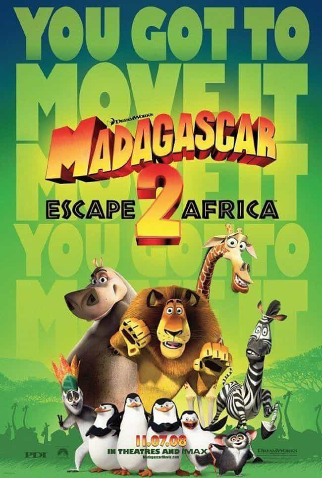 Madagascar: Escape 2 Africa is listed (or ranked) 3 on the list The Best Movies (and Series) in the Madagascar Franchise, Ranked