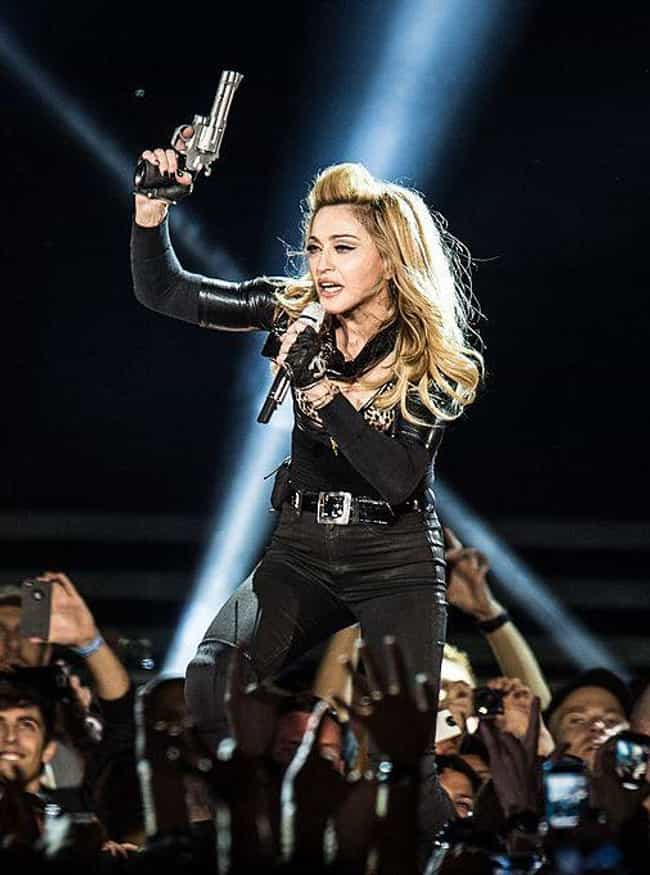 Madonna is listed (or ranked) 4 on the list 47 Famous People Who Own Guns