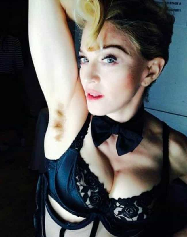Madonna is listed (or ranked) 1 on the list Famous Women Who Don't Shave Their Armpits