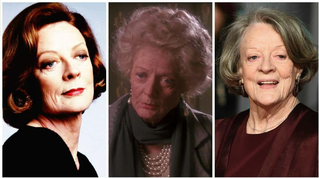 Maggie Smith is listed (or ranked) 1 on the list Actors in Old Age Makeup vs How They Actually Aged