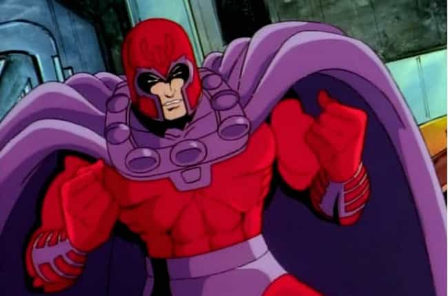 Magneto is listed (or ranked) 2 on the list 14 Childhood Favorite Cartoon Characters With Tragic Origin Stories