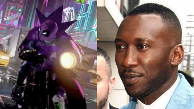 Mahershala Ali is listed (or ranked) 4 on the list Here's Where You've Heard Everyone In 'Into The Spider-Verse' Before