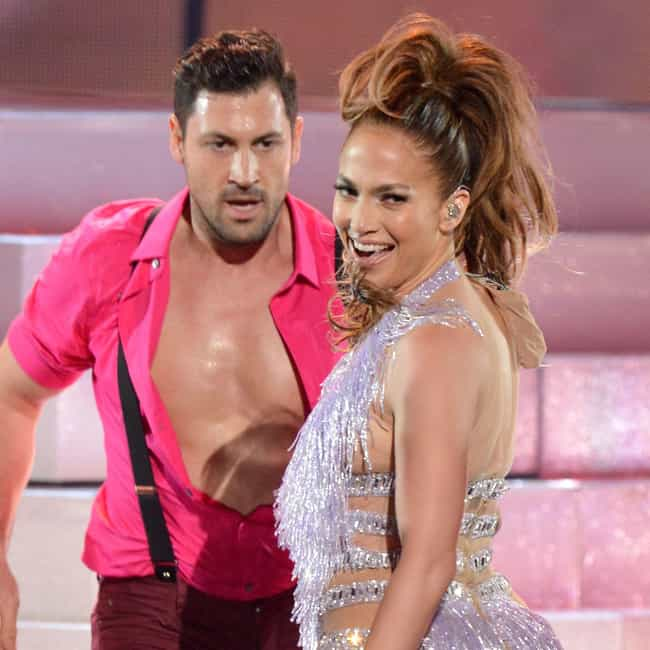 Maksim Chmerkovskiy is listed (or ranked) 3 on the list Jennifer Lopez's Loves & Hookups