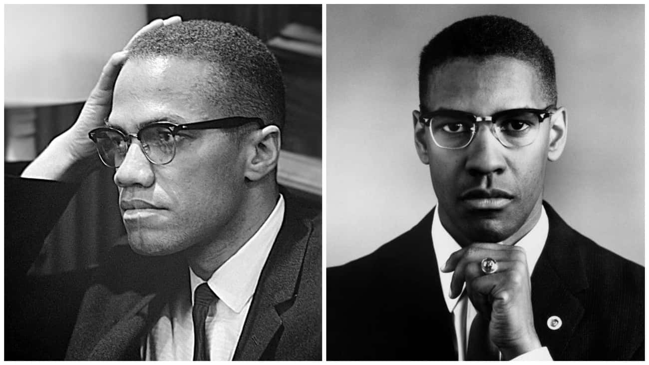 Malcolm X - Denzel Washington  is listed (or ranked) 2 on the list The Real People Who Inspired Biopics Vs. The Actors Who Played Them