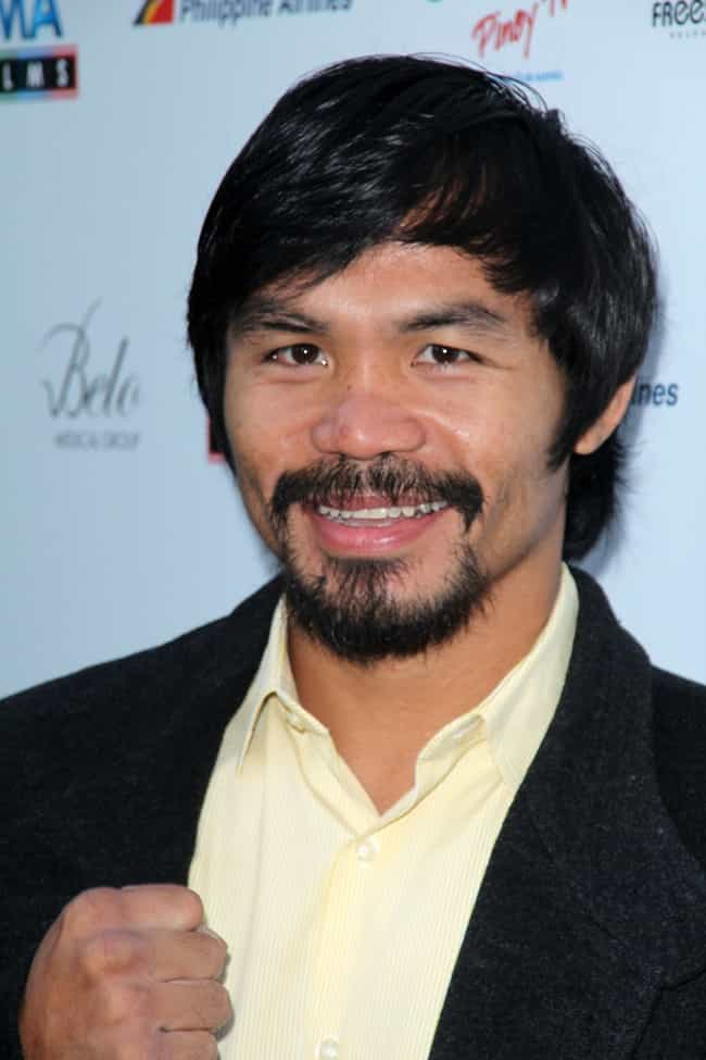 Manny Pacquiáo is listed (or ranked) 2 on the list Athletes Who Are (Allegedly) In The Illuminati