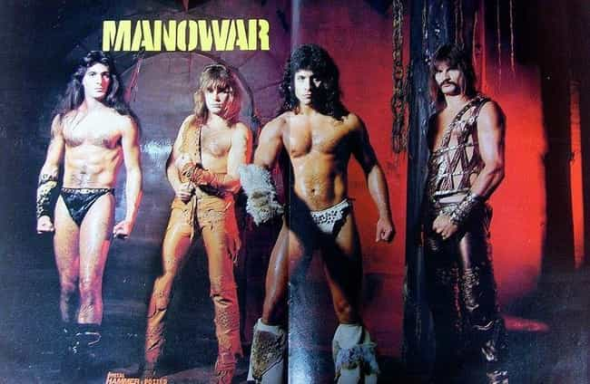 Manowar is listed (or ranked) 2 on the list The Funniest '80s Glam Band Photos Ever