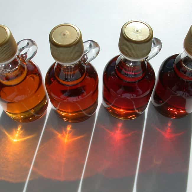 Maple syrup is listed (or ranked) 3 on the list 12 Fake Foods You've Definitely Been Fooled By