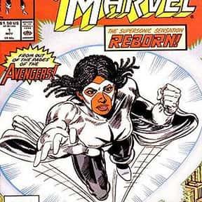 Captain Marvel a.k.a. Photon,  is listed (or ranked) 25 on the list List Of All Marvel's Avengers