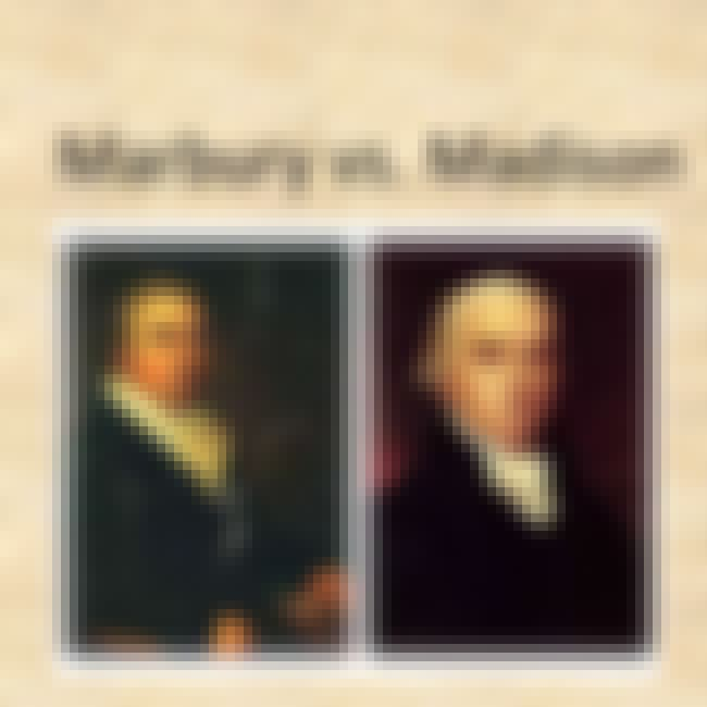 Marbury v. Madison is listed (or ranked) 2 on the list The Most Important Supreme Court Cases