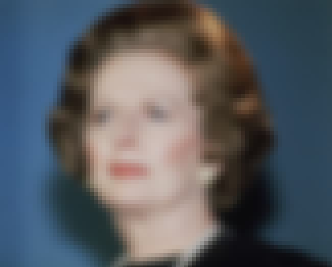 Margaret Thatcher is listed (or ranked) 1 on the list Famous Female Chemists
