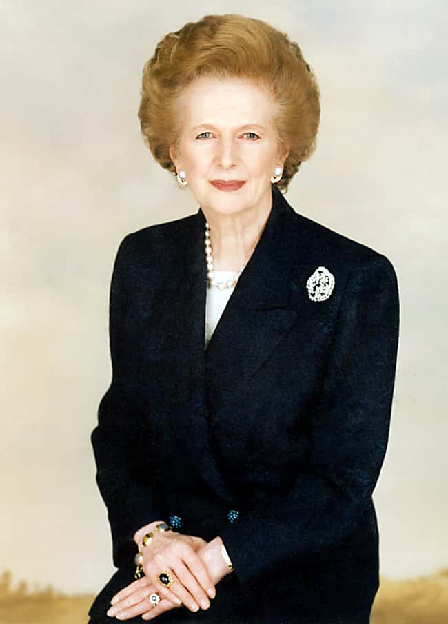 Margaret Thatcher is listed (or ranked) 9 on the list List of Famous Prime Ministers