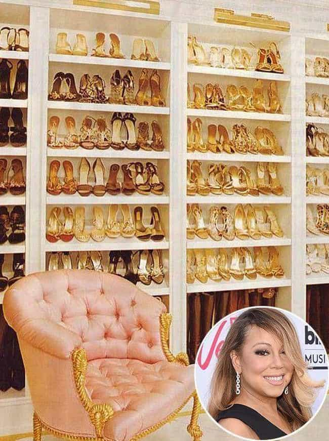 Mariah Carey is listed (or ranked) 1 on the list 19 Celebrities Whose Shoe Collections Are Completely Out of Control