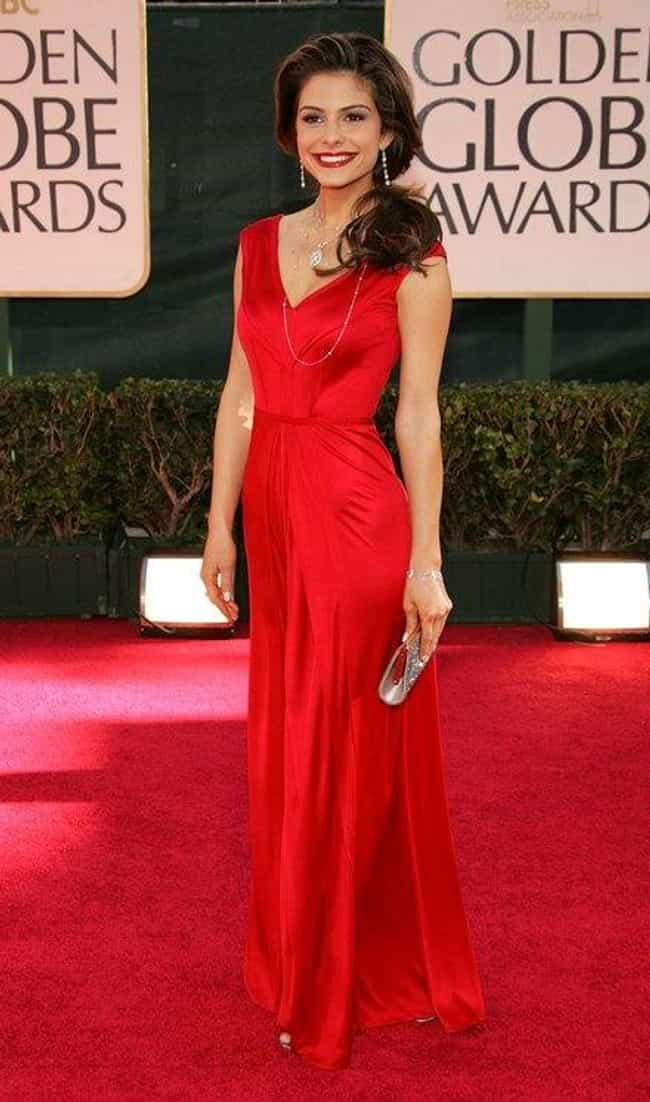 Maria Menounos is listed (or ranked) 2 on the list The Most Beautiful Celebrity in a Red Dress