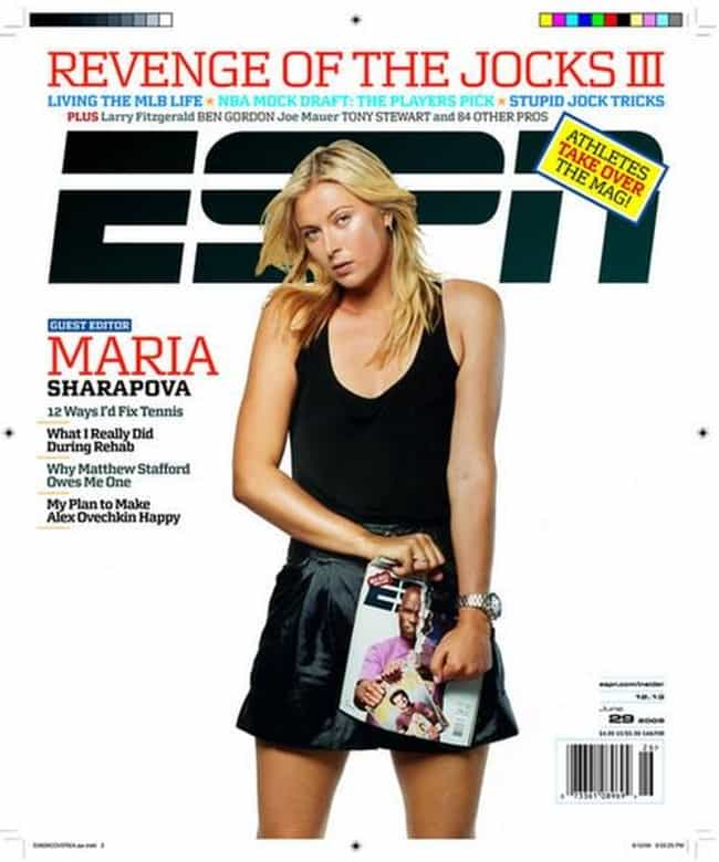 Maria Sharapova is listed (or ranked) 4 on the list The Best ESPN Magazine Covers