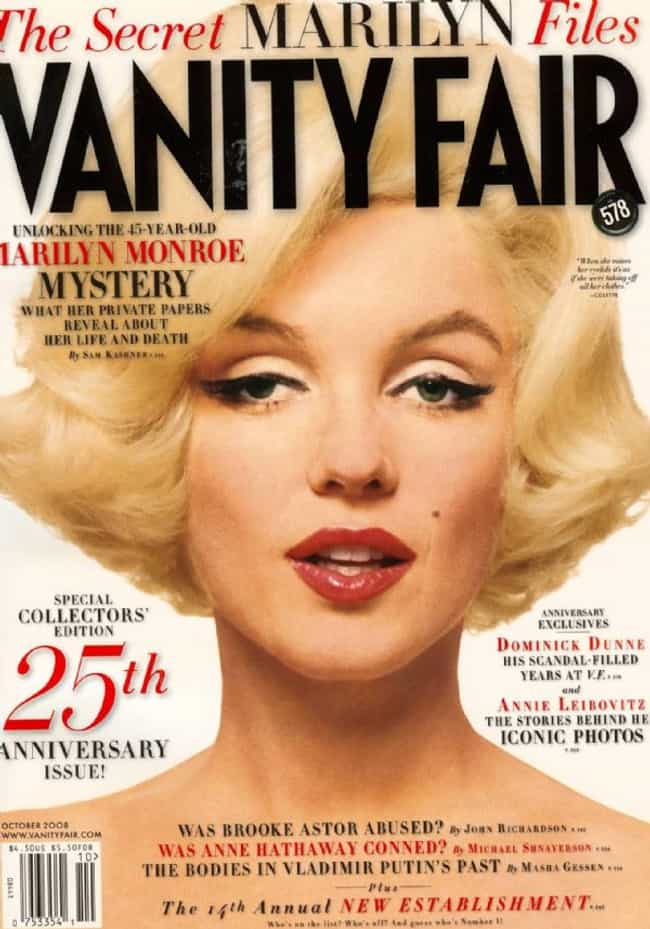 Marilyn Monroe is listed (or ranked) 3 on the list The Best Vanity Fair Covers