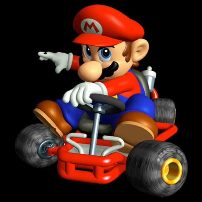 Mario is listed (or ranked) 1 on the list What Your Favorite 'Mario Kart' Character Says About You
