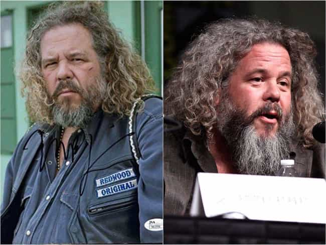 Mark Boone Junior is listed (or ranked) 4 on the list The 'Sons Of Anarchy' Cast Out Of Costume