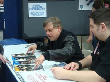 Mark Hamill is listed (or ranked) 1 on the list How Much Does Your Favorite Celebrity Charge for an Autograph?