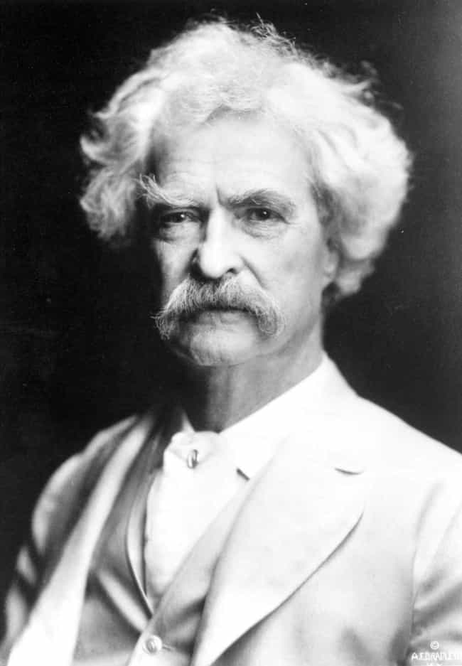 Mark Twain is listed (or ranked) 4 on the list Famous Male Reporters