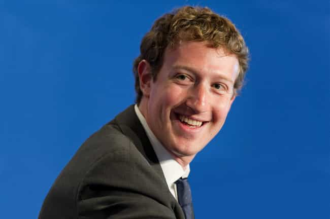 Mark Zuckerberg is listed (or ranked) 4 on the list 20 Celebrities You Didn't Know Were Color Blind