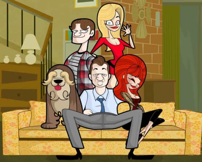 Married... with Children... is listed (or ranked) 3 on the list What Your Favorite Sitcoms Would Look Like as Cartoons