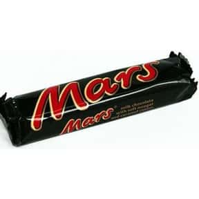 Mars is listed (or ranked) 9 on the list The Best Chocolate Companies