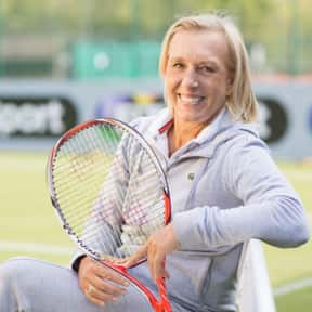 Martina Navratilova is listed (or ranked) 2 on the list Famous Lesbian Athletes
