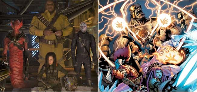 All of the Stakar's old Ravager colleagues in Guardians of the Galaxy Vol. 2 are the OG Guardians from the comics.