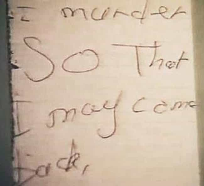 Mary Bell is listed (or ranked) 4 on the list 12 Cryptic and Chilling Messages Left at Murder Scenes