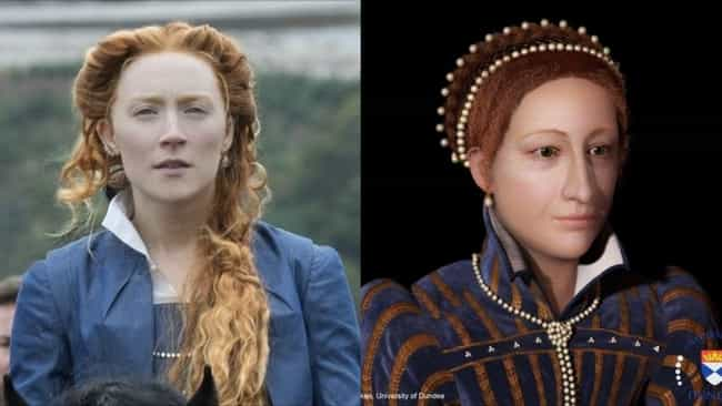 Mary, Queen of Scots is listed (or ranked) 1 on the list Thanks To 3D CGI Recreations, We Can See How Actors Compare To The Historical Figures They Play