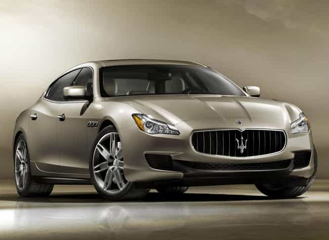 Maserati Quattroporte is listed (or ranked) 3 on the list Cars With a Regal Look