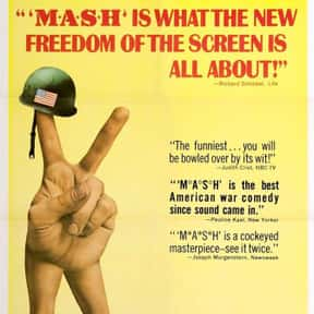 MASH is listed (or ranked) 23 on the list The Best Military Movies Ever Made