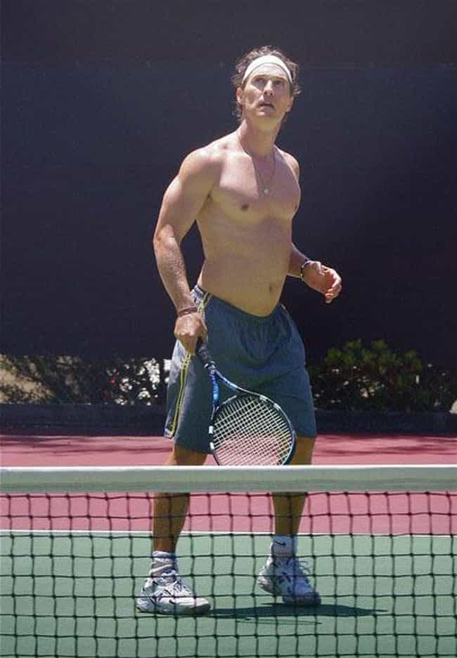 Matthew McConaughey is listed (or ranked) 1 on the list Celebrities Who Played Tennis in School