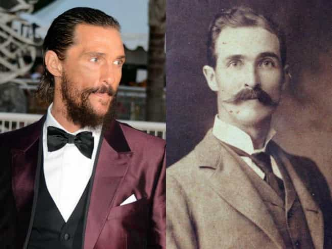 Matthew McConaughey is listed (or ranked) 3 on the list 50 Celebrities Who Look Exactly Like People From History
