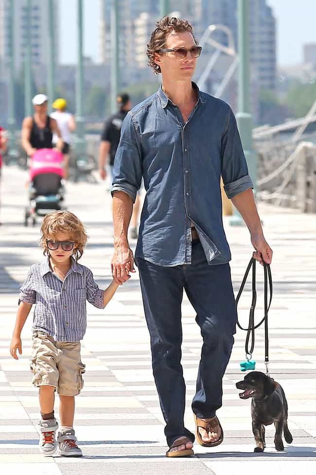 Matthew McConaughey is listed (or ranked) 4 on the list The Best Photos of Celebrities Walking Their Dogs