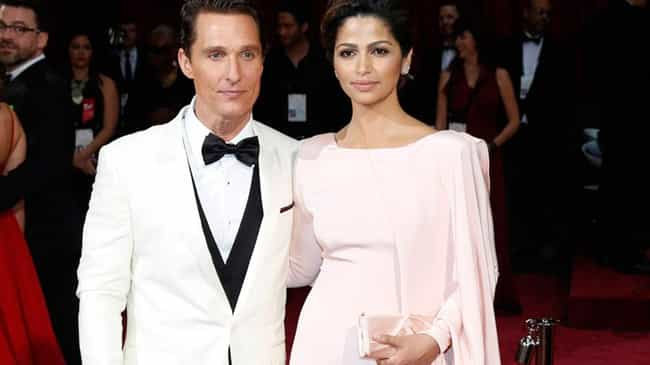 Matthew McConaughey is listed (or ranked) 3 on the list Famous White Men Who Married Latina Women