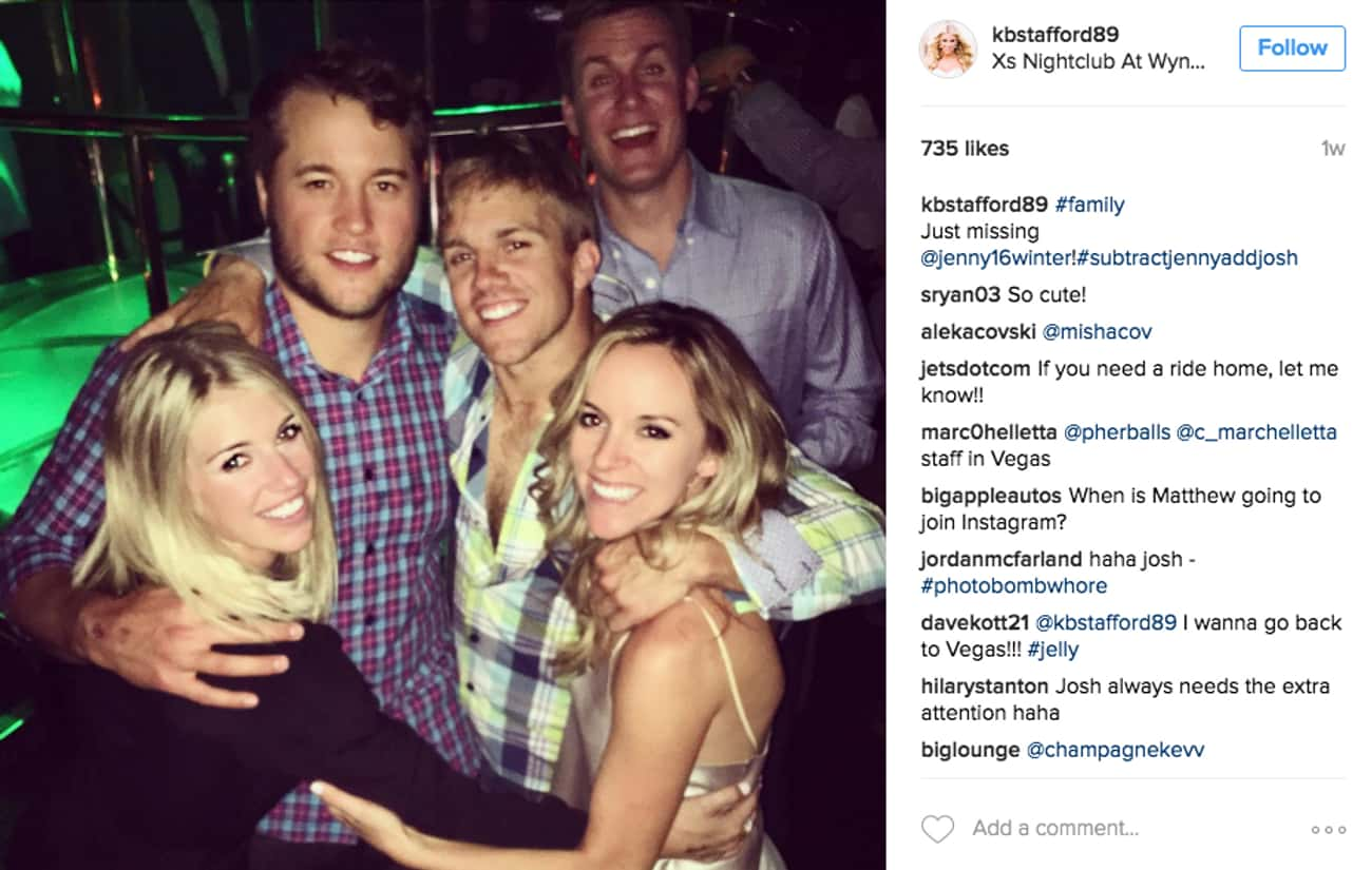 Matthew Stafford is listed (or ranked) 4 on the list Pro Athletes Who Dated Siblings of Other Pro Athletes