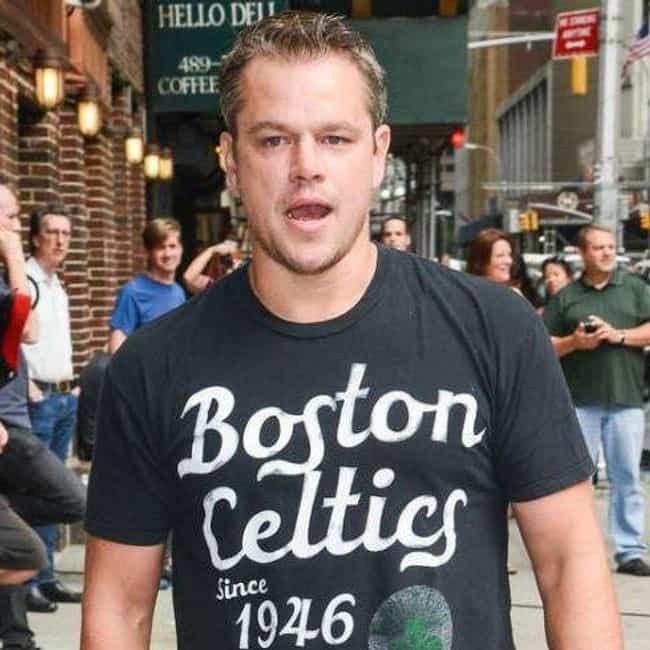 Matt Damon is listed (or ranked) 3 on the list Celebrity Celtics Fans