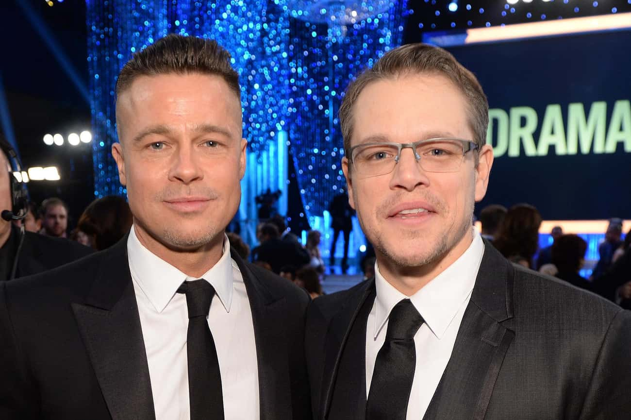 Matt Damon is listed (or ranked) 4 on the list Famous Friends of Brad Pitt