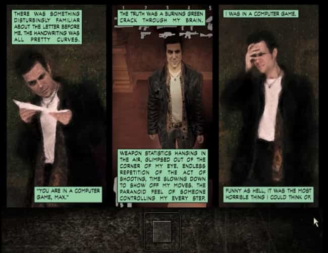 Max Payne is listed (or ranked) 4 on the list 19 Times Video Games Broke The Fourth Wall