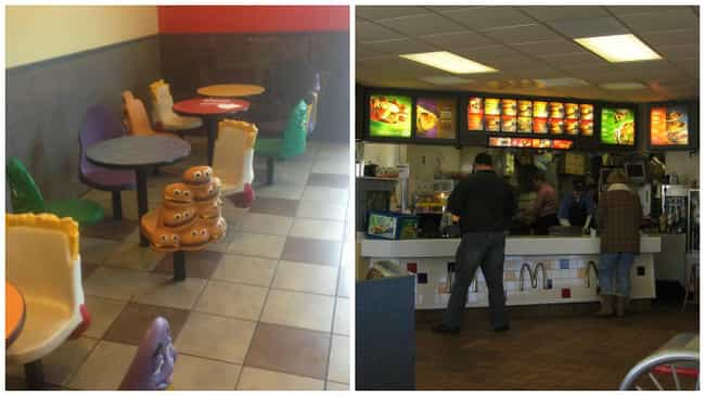 McDonald's is listed (or ranked) 3 on the list Look: Every Fast Food Restaurant Looked Better in the '90s