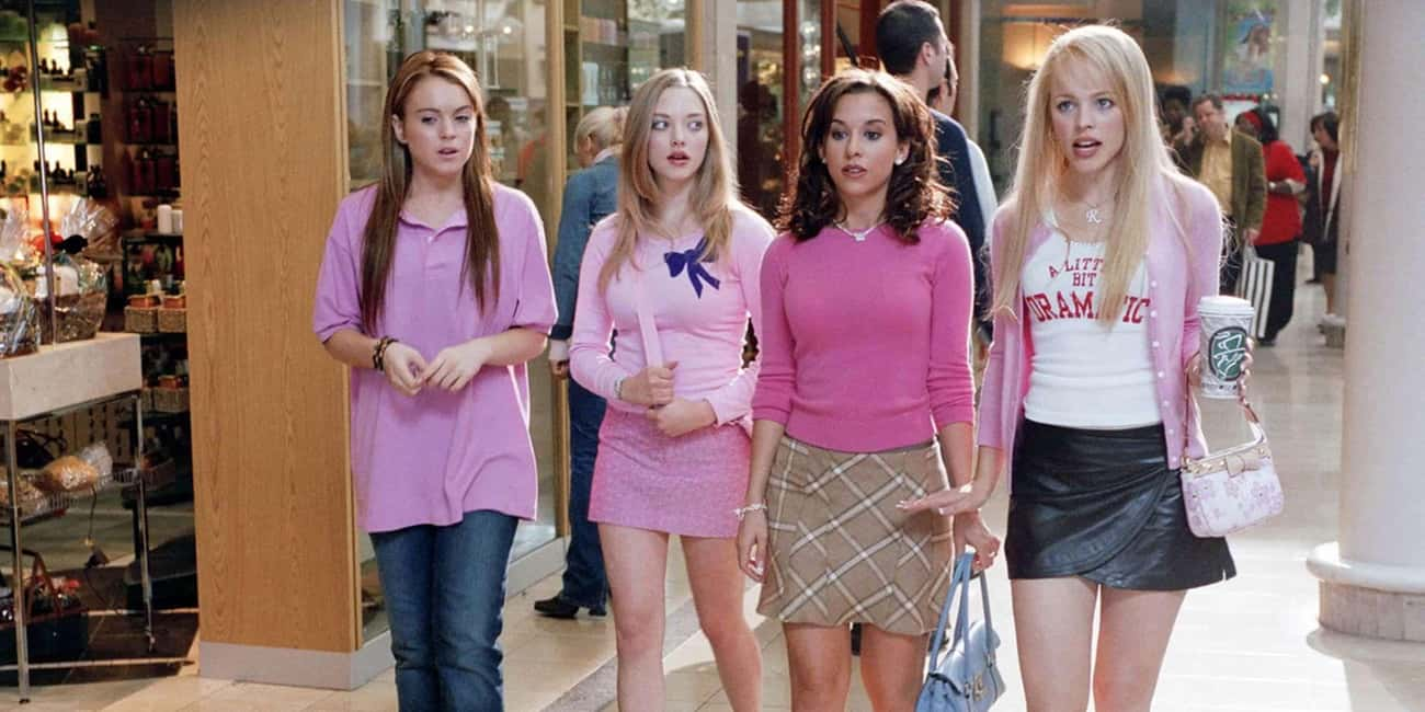 The Pink Ensembles In 'Mean Gi is listed (or ranked) 4 on the list What The Colors Of Your Favorite Movie Costumes Really Mean
