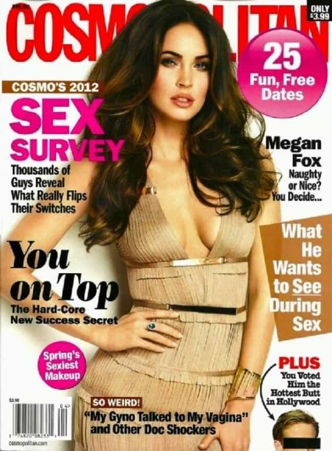 Megan Fox is listed (or ranked) 3 on the list The Best Cosmopolitan Covers