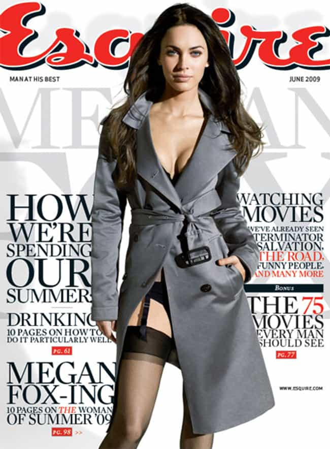Megan Fox is listed (or ranked) 3 on the list The Best Esquire Covers