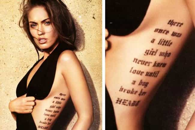 Megan Fox is listed (or ranked) 1 on the list The 25 Sexiest (Famous) Girls with Tattoos