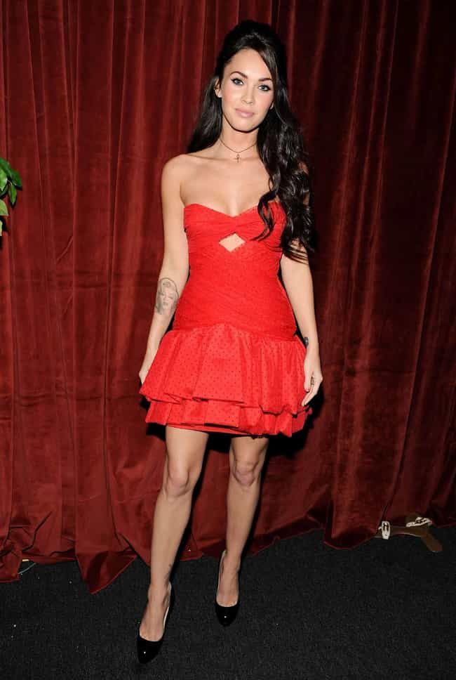 Megan Fox is listed (or ranked) 4 on the list The Most Beautiful Celebrity in Red Dress