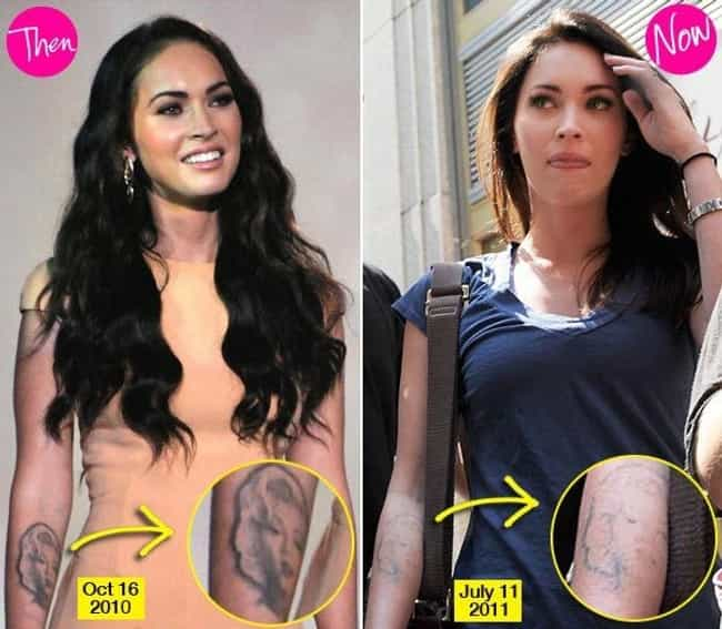 Megan Fox is listed (or ranked) 1 on the list Celebrities Who Said Goodbye to Their Tattoos