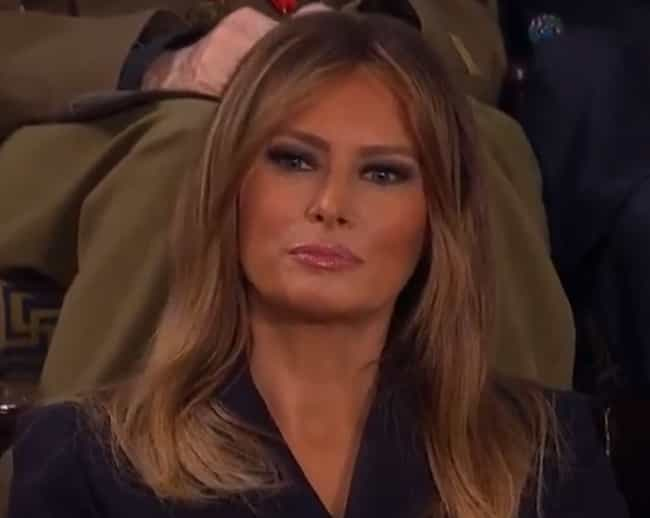Melania Trump is listed (or ranked) 1 on the list US Politicians' Reactions To President Trump's State Of The Union